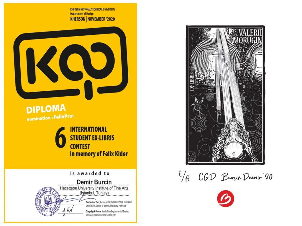 Felix Kider Exlibris ödülü Burcin Demir
